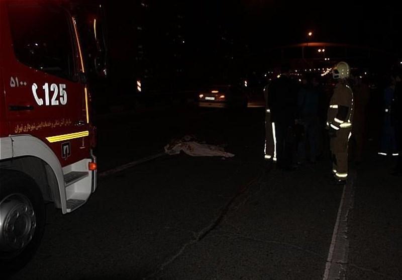 متواری شدن راننده پس از تصادف مرگبار در اتوبان همت + عکس