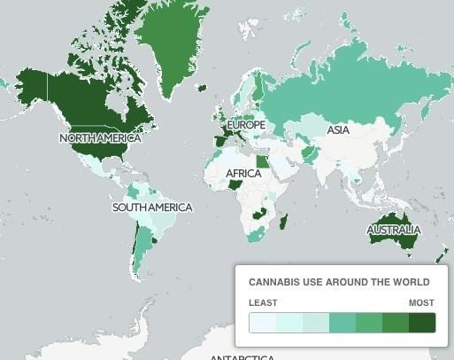 مصرف «ماریجوآنا» در کدام کشورهای جهان بیشتر است؟