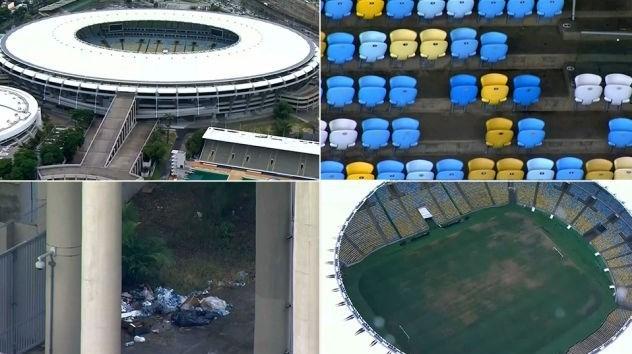 اوضاع اسفناک ورزشگاه ماراکانا ۶ ماه پس از المپیک ۲۰۱۶ ریو