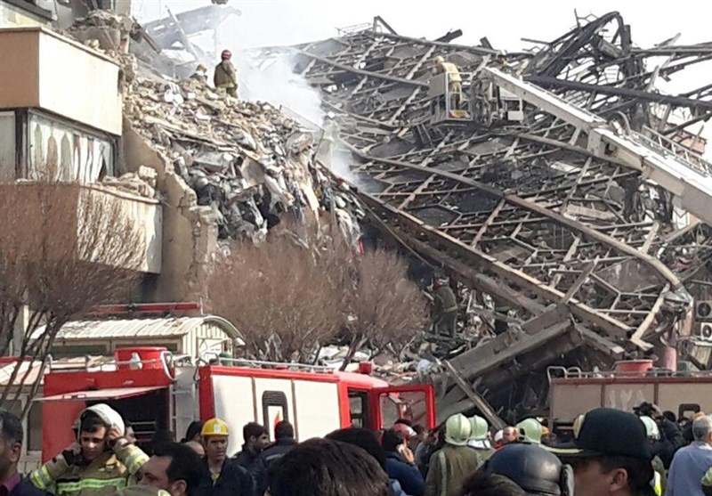 ساختمان پلاسکو حوادث تهران اخبار تهران آتش سوزی ساختمان پلاسکو