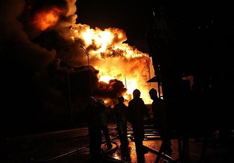 حریق در مخزن بزرگ شرکت خطوط لوله نفت ایران