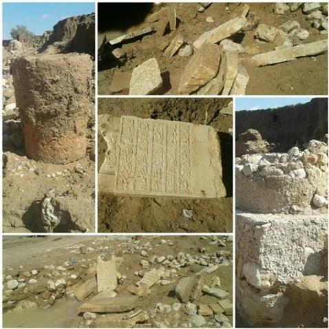 عکس | سیل قبرستان ۸۰۰ ساله را از زیر خاک بیرون آورد
