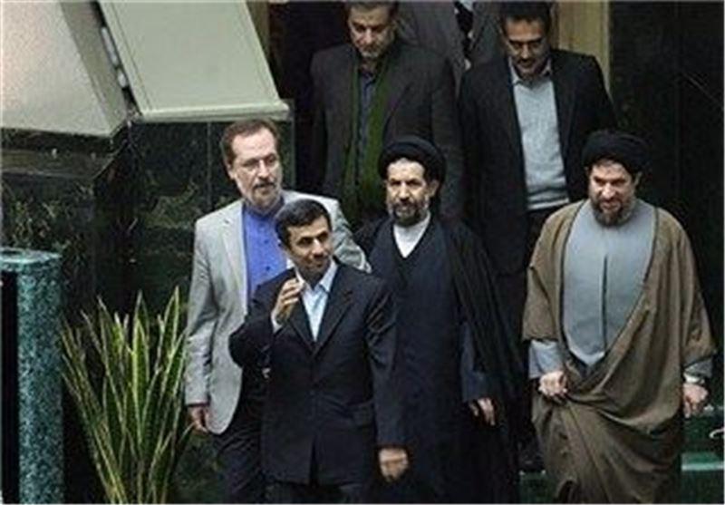 احمدی نژاد در صحن