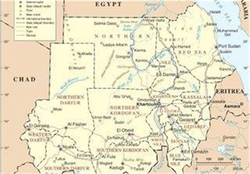 نقشه سودان