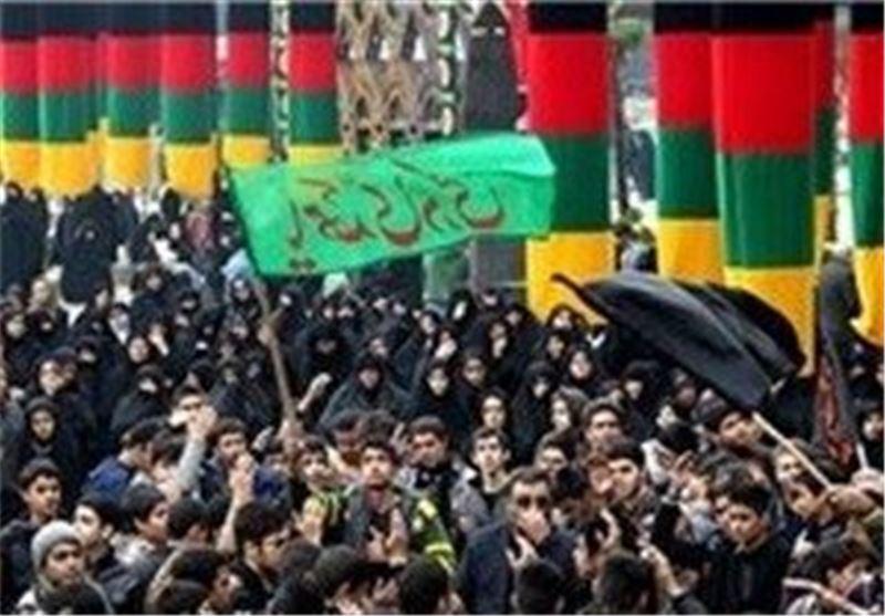 عاشوراییان در میدان امام حسین