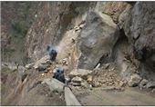 لرستان|محور پلدختر ـ خوزستان بهعلت ریزش کوه مسدود شد