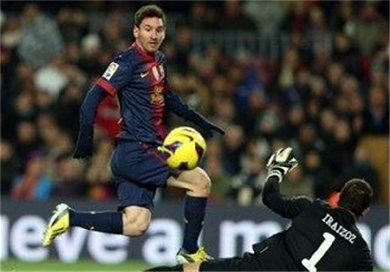 گلزنی مسی در بازی برابر اتلتیک بیلیائو