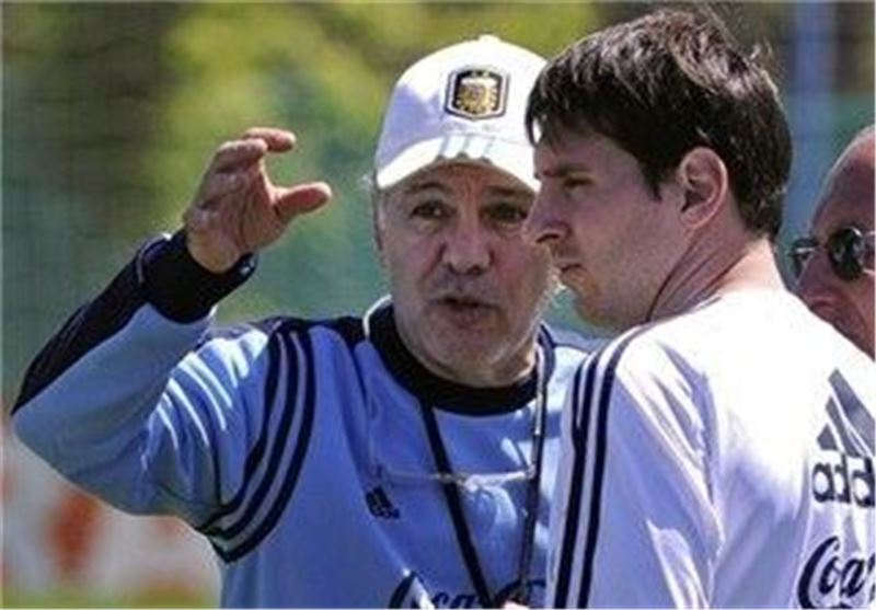 مسی و سابیا در تمرینات تیم ملی آرژانتین