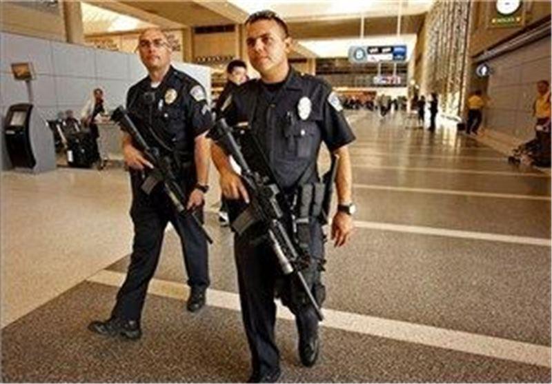 پلیس آمریکا فرودگاه