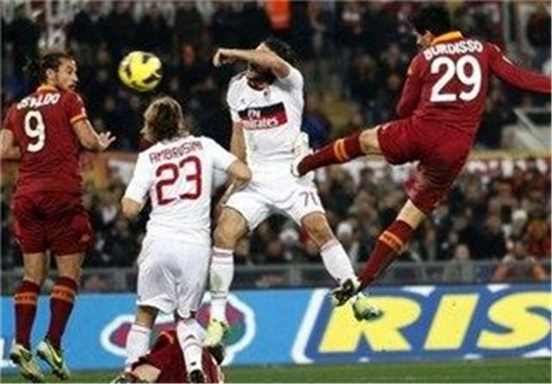 پیروزی رم مقابل میلان در سری A