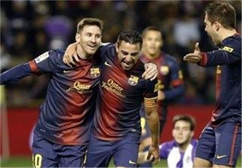 پیروزی بارسلونا مقابل وایادولید