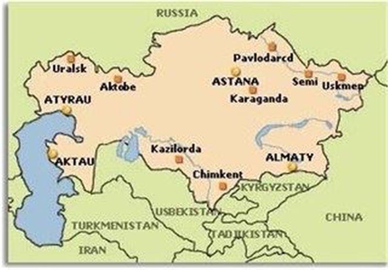 نقشه قزاقستان