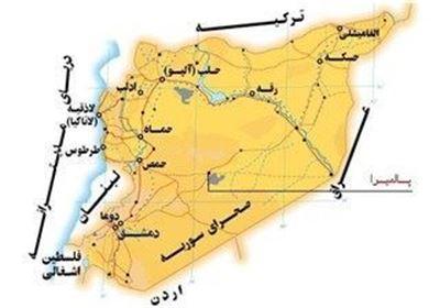 عکس نقشه سوریه