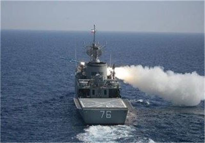 ناو جماران در رزمایش نیروی دریایی