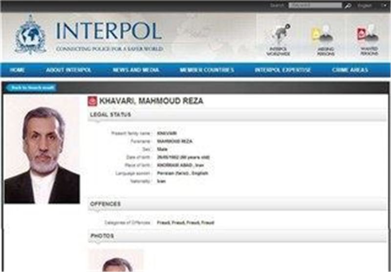 Iran Chides Canadian Interpol for Lack of Cooperation over Fugitive Banker