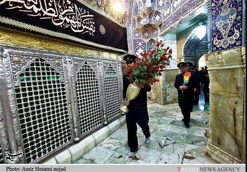 منبر برای ورود حضرت معصومه بقم