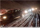 برف جاده چالوس