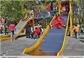 راه اندازی وسایل بازی در 4نقطه از شهر ریگان کرمان