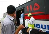 افزایش مصدومان اتوبوس واژگون شده محور باغین -کرمان به 39 نفر/اعزام 6 دستگاه آمبولانس