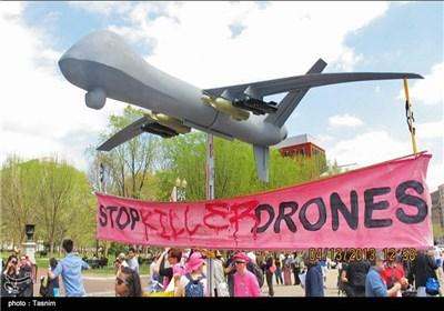 تظاهرات مردم امریکا علیه جنگ افروزی اوباما