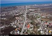 شهر چالوس از فراز آسمان