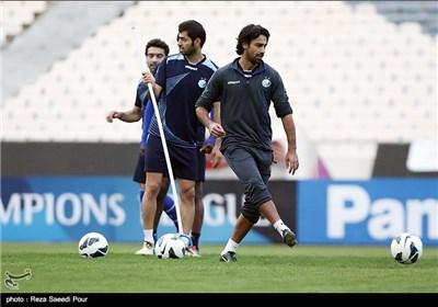 تمرین تیم استقلال قبل از بازی مقابل تیم الریان