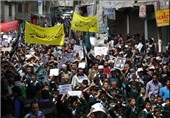 """تظاهرة حاشدة فی الهند استنکاراً لنبش قبر الصحابی""""حجر بن عدی"""""""