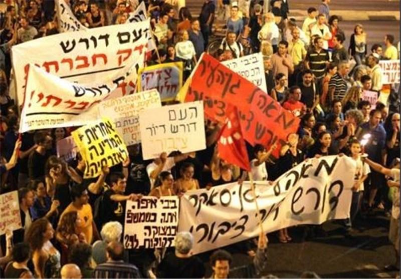تظاهرات جدیدة تجتاح «إسرائیل» احتجاجاً على التقشف فی المیزانیة وزیادة الضرائب