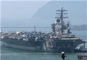 رزمایش دو ناو هواپیمابر آمریکا در دریای چین جنوبی