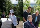 صور للرئیس العراقی وهو یتلقى العلاج بألمانیا