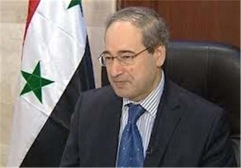 """المقداد: من یرید استمرار سیطرة """"داعش"""" على حلب یقف مع الإرهاب والقتلة"""