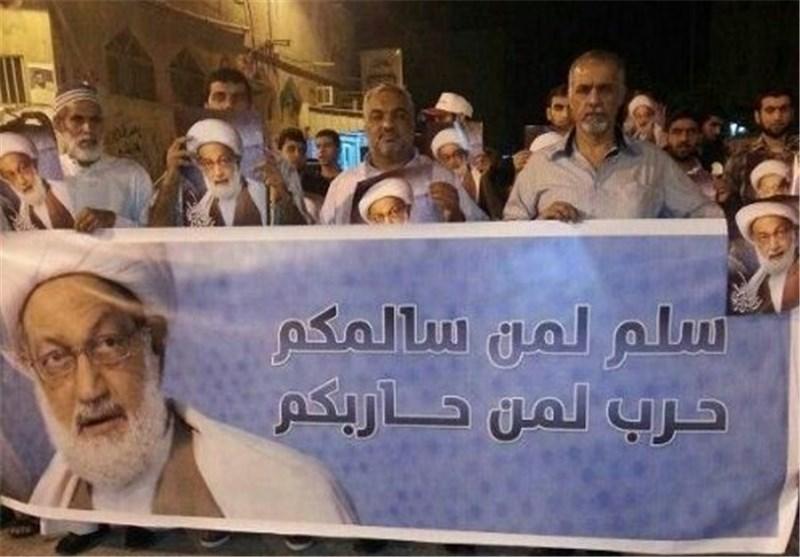 تظاهرات جماهیریة حاشدة فی 70 منطقة بحرینیة استعدادا لجمعة الوفاء : الشیخ قاسم خط أحمر