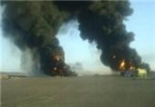 افراد مسلح خط لوله نفت یمن را منفجر کردند