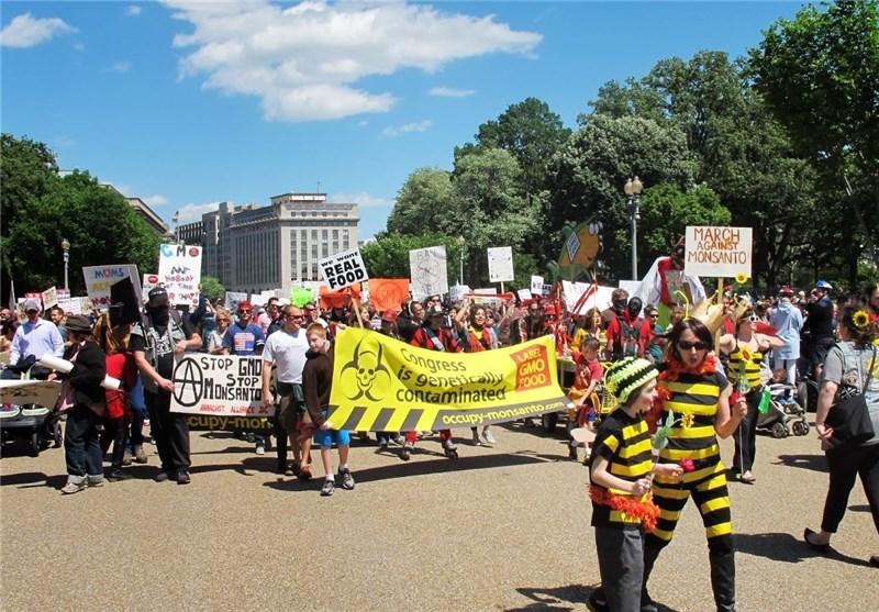 تظاهرات-بر-علیه-محصولات-تراریخته-gmo-در-امریکا
