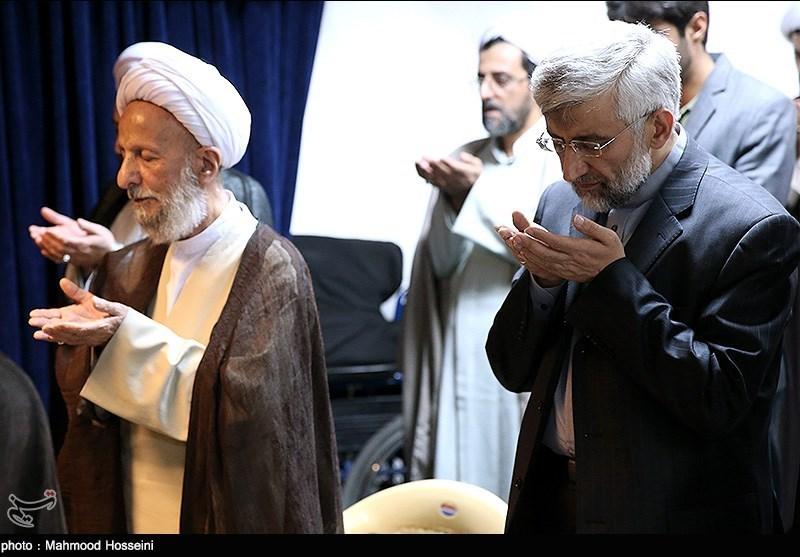 دیدار سعید جلیلی با آیت الله مصباح یزدی در قم