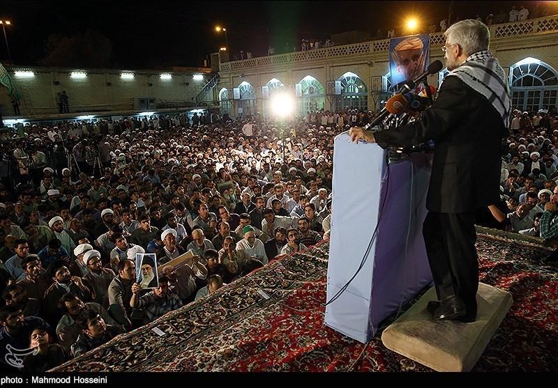 استقبال حماسی مردم قم از سعید جلیلی