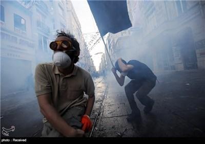 درگیری معترضین و نیروهای امنیتی ترکیه