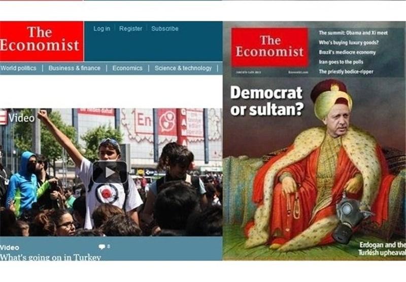 """السلطان اردوغان"" غلافا لمجلة « ذا اکونومیست» البریطانیة ؟َ!"
