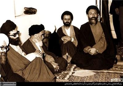 امام خمینی شهید بهشتی رهبر آیت الله خامنه ای
