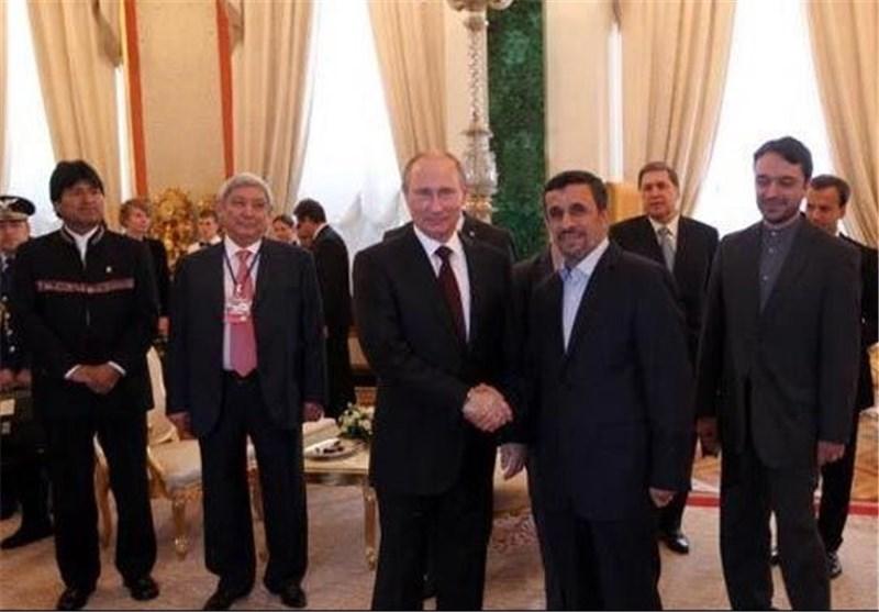 احمدی نجاد یلتقی نظیره الروسی فی الکرملین
