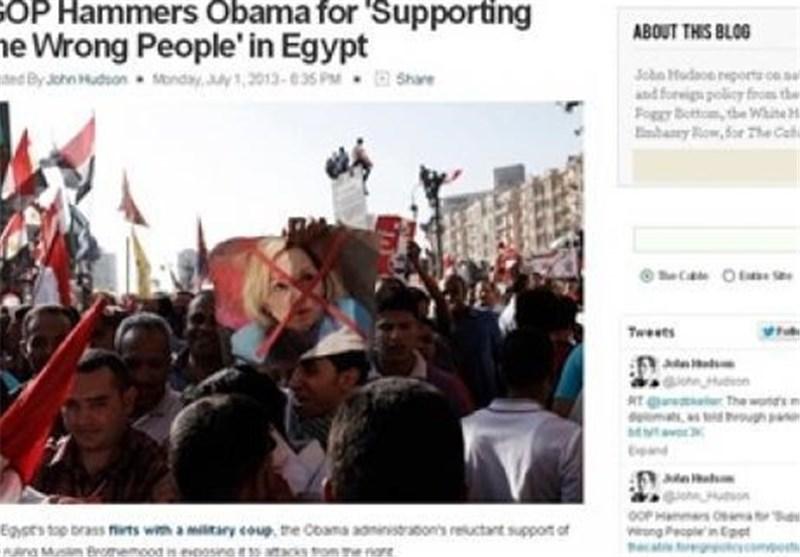 """مجلة أمریکیة: الکونغرس یتهم أوباما بالفشل بسبب دعم """"الإخوان"""" فی مصر"""