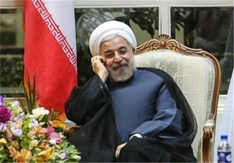 الدکتور روحانی لأمیر قطر : نأمل العمل معاً لإرساء الصلح والسلام بین المسلمین بالمنطقة