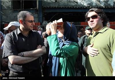 علی دهکردی در تجمع سینماگران مقابل خانه سینما