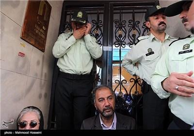محمدمهدی عسگرپور در تجمع سینماگران مقابل خانه سینما
