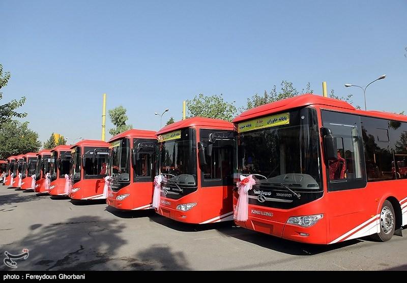 مراسم اضافه شدن 161 اتوبوس به ناوگان اتوبوس رانی BRT
