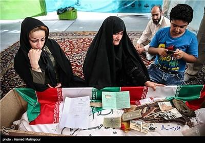 دیدار همسر، نوه و دخترخوانده ی شهید قدرت الله سرلک با پیکر او بعد از 30 سال