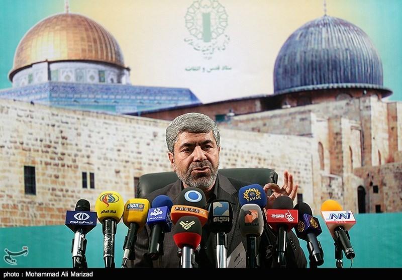 نشست خبری رمضان شریف رئیس ستاد قدس و انتفاضه شورای هماهنگی تبلیغات اسلامی
