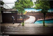 بارش باران تابستانی در بابل