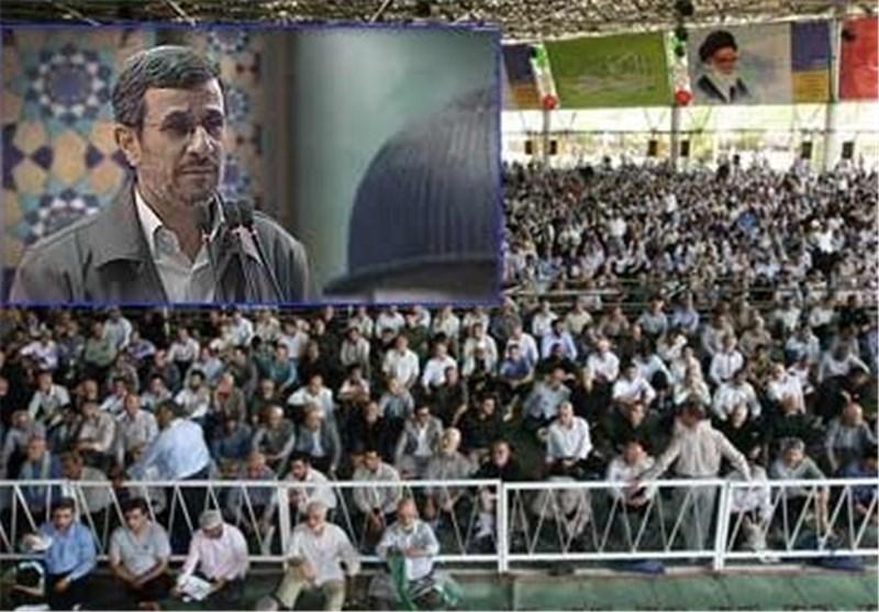 Iranian Worshipers Praise President Ahmadinejad's Services