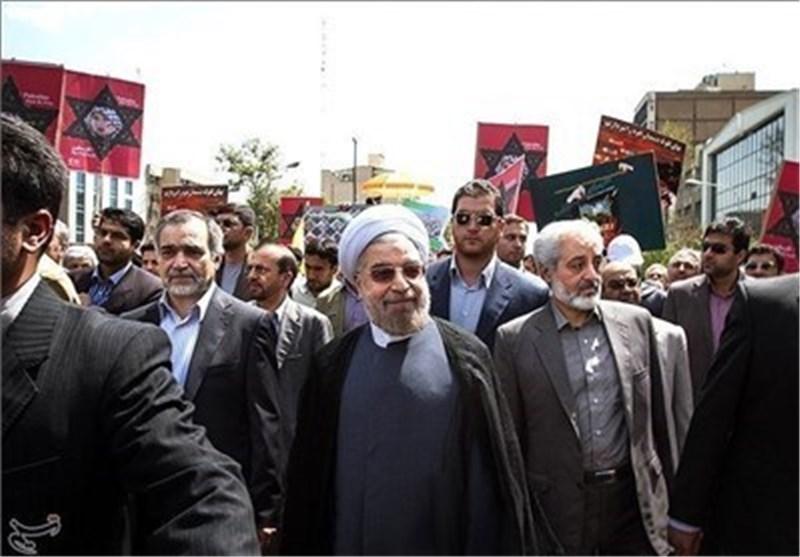 الدکتور روحانی : احتلال فلسطین أوجد جرحاً لم یزل ینخر فی جسد العالم الاسلامی منذ سنوات